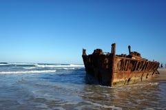 Maheno shipwreck at Fraser Island Stock Images