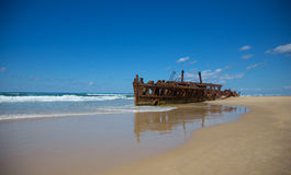 Maheno Shipwreck Stock Photography