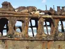 Maheno shipwreck royalty free stock images