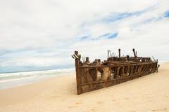 Maheno skeppsbrottFraser ö Fotografering för Bildbyråer