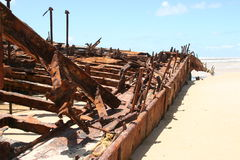 Maheno Wreck - Fraser Island Royalty Free Stock Photography