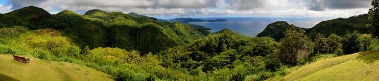 mahepanorama seychelles Royaltyfri Foto