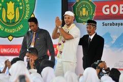 Maher Zain in Surabaya. Singer religious origin sweden, maher zain ( cap white ) while visiting education foundation khadijah, surabaya jatim, october 2, 2012 Stock Images