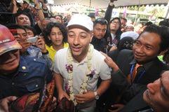 Maher Zain in Surabaya. Singer religious origin sweden, maher zain ( cap white ) while visiting education foundation khadijah, surabaya jatim, october 2, 2012 Stock Photography