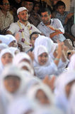 Maher Zain in Surabaya. Singer religious origin sweden, maher zain ( cap white ) while visiting education foundation khadijah, surabaya jatim, october 2, 2012 Royalty Free Stock Photos