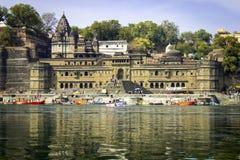 Maheshwar - Ahilya fort Fotografering för Bildbyråer