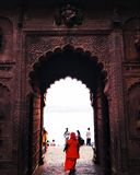 Maheshwar fort royaltyfri foto