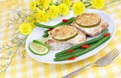Mahi Mahi Fish Dinner Stock Photo