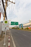Mahidol Road, Chiangmai. Royalty Free Stock Photography