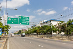 Mahidol Road, Chiangmai. Royalty Free Stock Photo