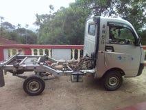 Mahindra Maxximo加上微型卡车 免版税图库摄影