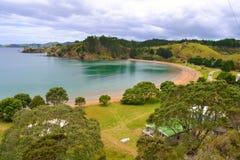 Mahinepua halvö, norra delen av ett land, Nya Zeeland Arkivfoto