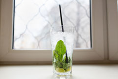 Mahito cocktail with mint Stock Image