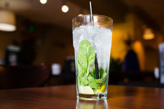 Mahito cocktail with mint Royalty Free Stock Images