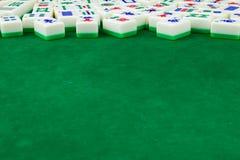 Mahjong表背景 免版税库存图片