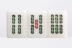 Mahjong — bambu Arkivfoto