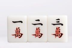 Mahjong — tecken Arkivfoto