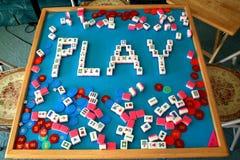 mahjong παίξτε Στοκ Φωτογραφία