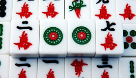mahjong фарфора Стоковая Фотография RF
