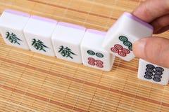 Mahjong. Touch a very good mahjong stock photos