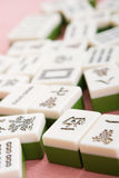 Mahjong. Closeup of traditional chinese game - mahjong royalty free stock photography