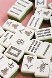 Mahjong. Closeup of traditional chinese game - mahjong stock photography