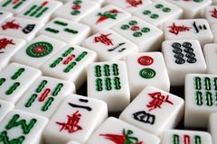 Mahjong. Many mahjong on the table royalty free stock photography