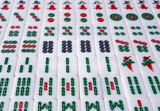 Mahjong. Chinese mahjong at details view stock image