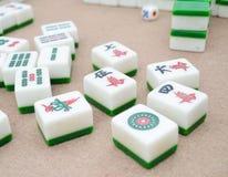 Mahjong. Peple play mahjong on the talbe royalty free stock photography