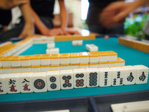 Mahjong. An ancient Chinese game called Mahjong as a way to spend your free time with joy and get some fun royalty free stock images