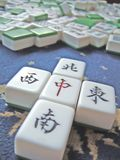 Mahjong. East, West, South, North and center in Chinese Mahjong Royalty Free Stock Photo