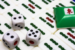 Mahjong - asian game with dices Stock Photo