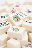 Mahjong board game pieces Royalty Free Stock Photos