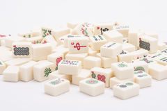 Mahjong board game pieces Royalty Free Stock Photography