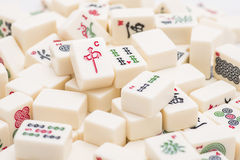 Mahjong board game pieces Stock Photography