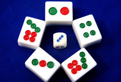 Mahjong in China Royalty Free Stock Photos