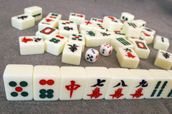 Mahjong in china Royalty Free Stock Photo