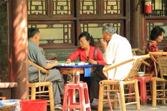 Mahjong-Chineseleben lizenzfreies stockfoto