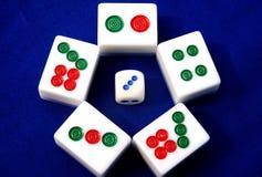 Mahjong in Cina Fotografie Stock Libere da Diritti