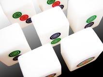 Mahjong die Nummer 1 2 3 toont Royalty-vrije Stock Foto