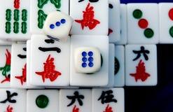 Mahjong en China foto de archivo libre de regalías