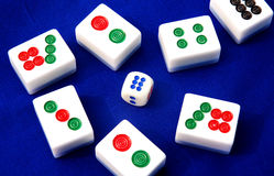 Mahjong en Chine Photographie stock