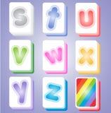 Mahjong-Farbe kardiert Alphabet-ABC SZ Lizenzfreies Stockbild