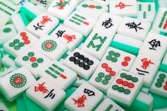 Mahjong Fliesen lizenzfreie stockbilder