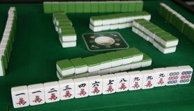 Mahjong game. Chinese traditional game -- mahjong game royalty free stock images