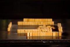 Mahjong game Stock Images