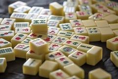 Mahjong game pieces, tiles stock image