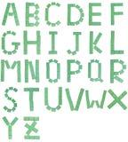 Mahjong letters stock image