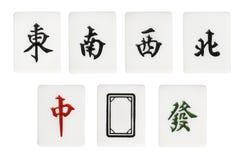 Mahjong. A mahjong news and dragon suit stock photo
