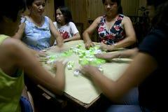 Mahjong Players Stock Photography